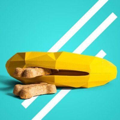 zeedog dog legetøj til godbidder banan