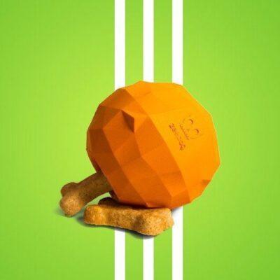 zeedog dog legetøj til godbidder appelsin