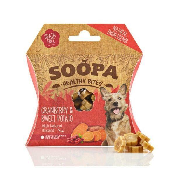 Vegetarisk godbidder til hunde, tranebær og søde kartofler, Soopa Bites
