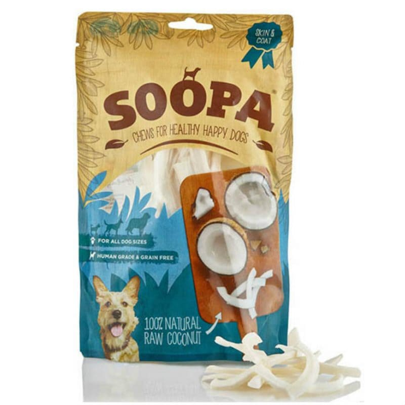 Vegetarisk godbidder til hunde, kokos, Soopa Bites