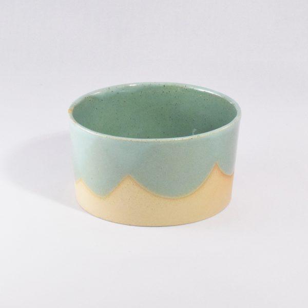 Foder- og vandskål i keramik