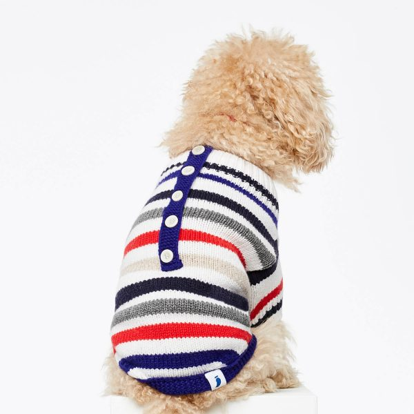 Stribet hundesweater