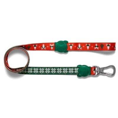 Jule line til hund i røde og grønne farver