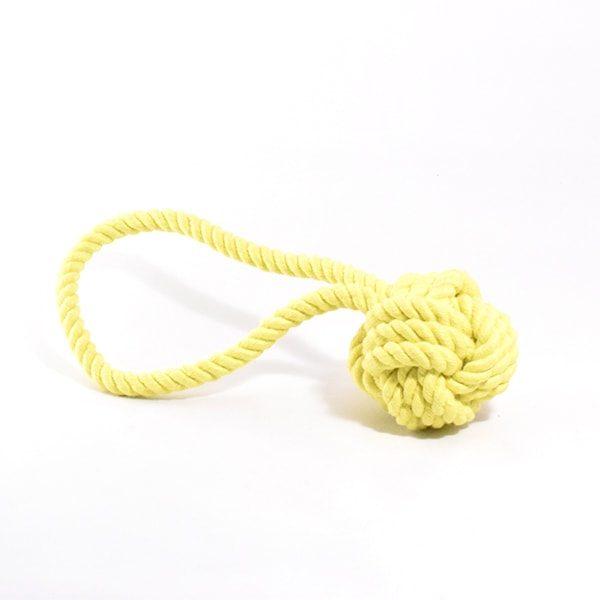 Rope Ball // Citrongul reb bold - Naturligt hundelegetøj