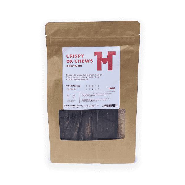 Crispy Ox Chews // Lufttørrede oksestruber 150 g (op til 15 cm lange)